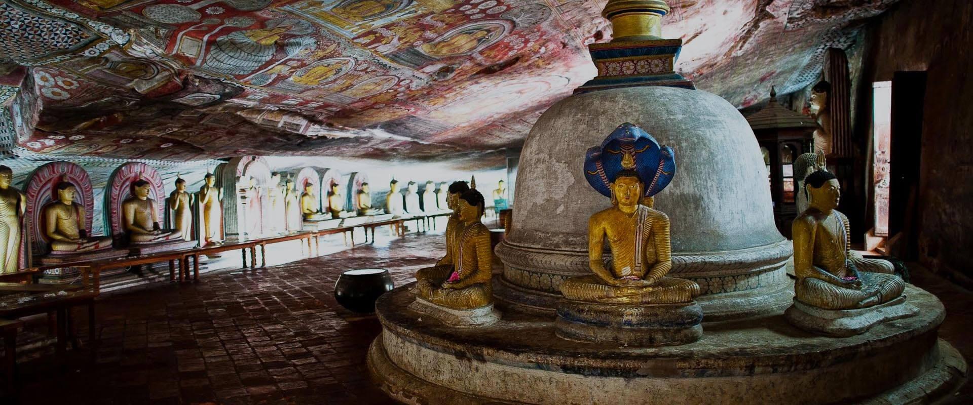 Sigiriya Rock Fortress and Dambulla Cave Temple