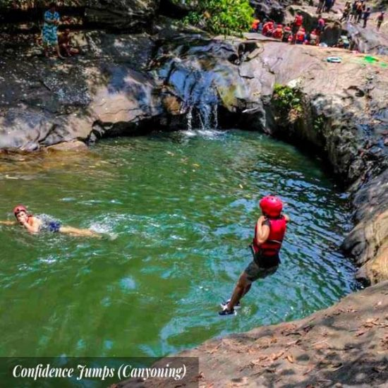 Kitulgala confidence jumps (Canyoning)